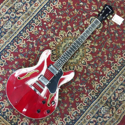 Eastman T386 - RD, Red Nitrogloss Finish, Kent Armstrong Humbuckers, w/Case